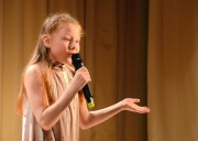 Выступает Лена Золотухина из студии художественного чтения «Арт» (рук. Ирина Суховольская)