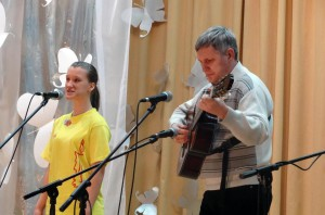 "Полина Петрова и Сергей Семенов на фестивале ""Искитим–2013"""