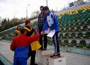 Во время церемонии награждения на Спартакиаде