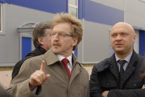 Николай Красников и Алексей Струков на первой площадке Биотехнопарка.