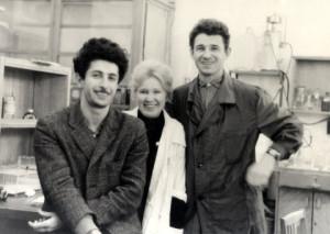 Слева направо: А.С. Гиршович, Н.М. Пустошилова, Э.Г. Малыгин
