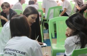 Кольцовские волонтеры на конкурсе проектов представляли игру «За здоровье!».