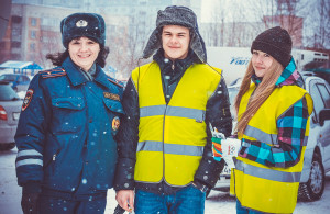 Праздничная акция на дорогах Кольцово.