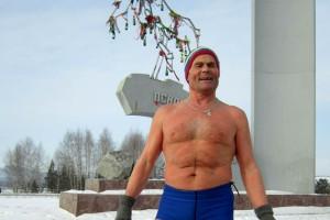Айсмен Н.Глушков на пробеге.