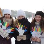 В Кольцово раздали «олимпийские ладошки»