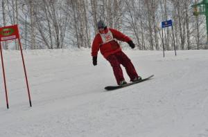 На Кубке Кольцово-2014 по горным лыжам и сноуборду.