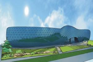 Один из эскизов дизайн-проекта благоустройства и озеленения территории у Центра коллективного пользования.