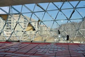 Вид на третий микрорайон из окна Центра коллективного пользования.