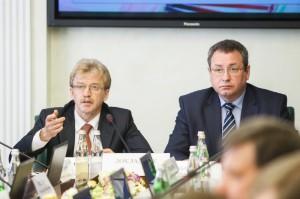 Выступление Николая Красникова перед сенаторами.