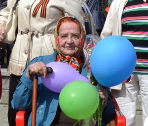 Мария Макаровна Степцова на празднике 9 мая 2014 года.