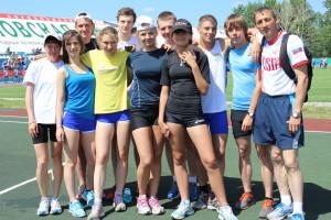 Золотые призеры игр -- сборная Кольцово по легкой атлетике.