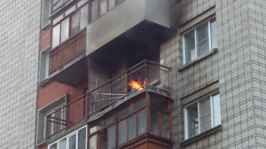 Горящий балкон 14 августа.