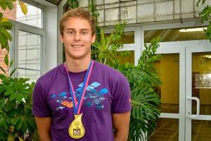 Владимир Морозов с золотой медалью Чемпионата Европы.