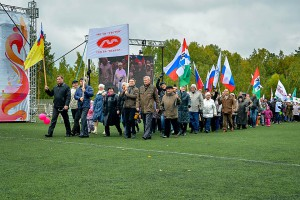 Парад предприятий на праздновании юбилея Кольцово 20 сентября 2014 года.