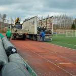 Выделены деньги на монтаж нового футбольного поля на стадионе Кольцово