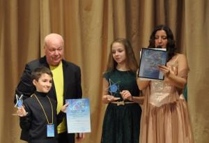 """Семен Афонин на церемонии награждения на фестивале """"Адмиралтейская звезда""""."""