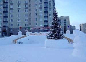Ледовый городок готов встретить гостей.