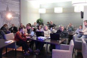 Региональные журналисты на семинаре в Новосибирске, 28 января.