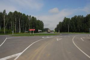 Рядом с развилкой будет располагаться южный въезд в Кольцово.