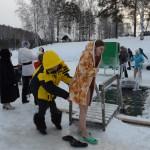 В кольцовском парке оборудовано место для крещенского купания
