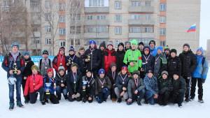 Участники Кубка Кольцово по мини-футболу на снегу.