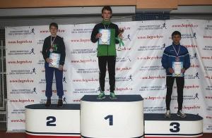 Дмитрий Сизов на третьей ступеньке пьедестала.