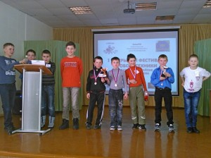 Кольцовские конструкторы на фестивале робототехники в Новосибирске.