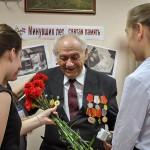 На встречу с лицеистами Кольцово пришел бывший узник Жмеринского гетто