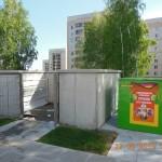 В Кольцово установили баки для раздельного сбора мусора