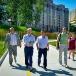 Кольцово посетил министр ЖКХ Новосибирской области Евгений Ким