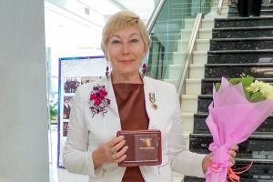 Жанна Якушина на съезде женщин Новосибирской области.