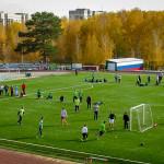 На новом покрытии стадиона Кольцово прошли уже два  футбольных турнира