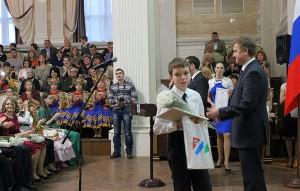 Александр Бирюков на церемонии вручения свидетельств губернаторских стипендиатов.