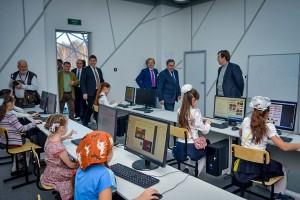 Кольцовские школьники занимаются в аудитории, предназначенной для магистрантов из НГУ.