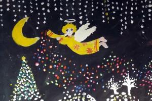 """""""Ангел, летящий по небу"""" — подарок Юлии Ломовцевой."""
