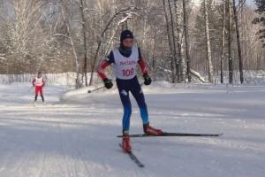 Никита Писарев на лыжне.