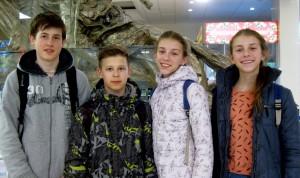 Иван Пронин, Ярослав Евдокимов, Валерия и Маргарита Ткаченко.