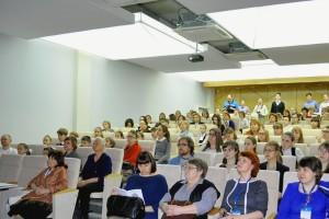 На открытии научно-практической конференции школьников в Кольцово.