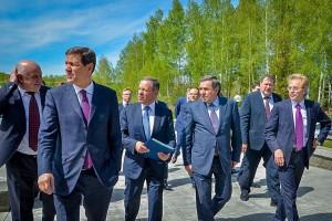 Владимир Городецкий посетил Кольцово совместно с руководством Корпорации МСП.