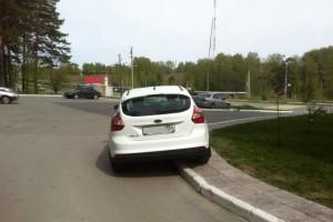 Штраф за парковку на тротуаре.