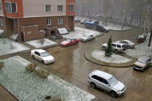 Снежный май в Кольцово.