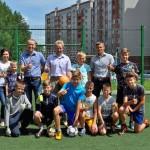 В Кольцово официально открыли вторую дворовую площадку для мини-футбола