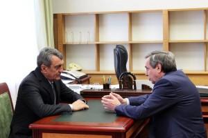 Сергей Меняйло на встрече с В.Городецким.