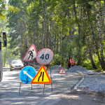 В Кольцово идет реконструкция дороги по улице Садовой