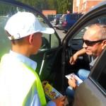 Юные инспекторы дорожного движения провели в Кольцово акцию