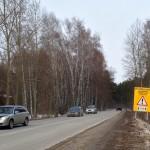 На выезде из Кольцово установлен особый дорожный знак