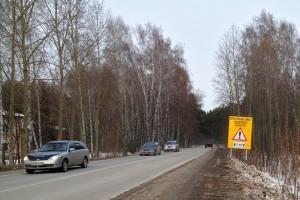 Новый знак на выезде из Кольцово.