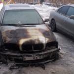 В Кольцово загорелся автомобиль