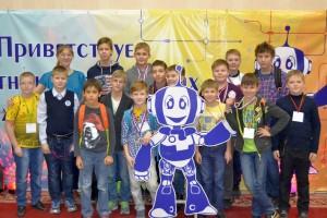 Кольцовские робототехники на соревнованиях в Новосибирске.