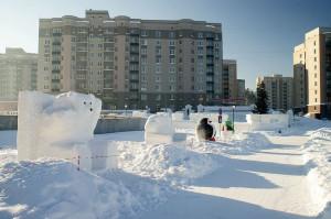 Снежный городок в 3 микрорайоне.